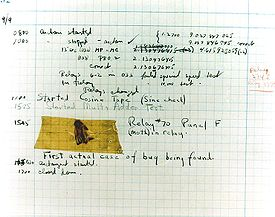 Image of a real bug; from Wikipedia article on Grace Hopper