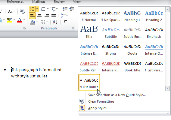 How To Control Bullets In Word 2007 And Word 2010 Shaunakelly